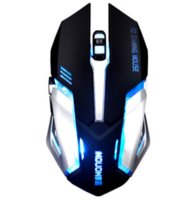 7 colori LED Optical Mouse Computer wireless 2.4G 2400 DPI batterie ricaricabili USB Gaming Mouse Mause per i giochi per PC portatili