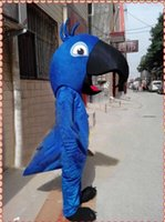Wholesale Mascot Costumes Parrot - blue parrot Mascot Costume custom cartoon character cosply adult size carnival costume fancy dress party kits1346