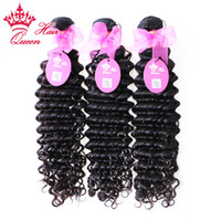 Wholesale Wholesale Steam Machine - Queen Hair 100% Virgin brazilian hair steamed deep wave machine weft 3pcs lot DHL free shipping 12-28inches available wholesale price