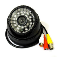 Wholesale Indoor Dome Camera Audio - HD Security Dome Camera With Audio CCTV 800TVL CMOS Sensor 48 IR Led Night Vision For Home Surveillance Analog Cam