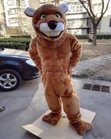 Wholesale Costume Cougars Mascot - cougar mascot costume custom panther leopard cartoon character cosply adult size carnival costume 41