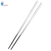 Wholesale Bamboo Flatware - Wholesale- New Stainless Steel Square Chopsticks Chinese Style Flatware Tableware Silver Chopsticks Reusable Non-slip Cutlery Eco-Friendly