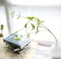 ingrosso lascia le piante-Artificiale chlorophytum foglie piante verdi decorazione di seta fiori bouquet da sposa per la festa di nozze a casa vacanza decorazione 35422