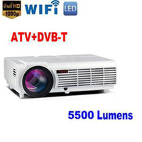 Wholesale 3d Hd Video Projector - Factory Price !!! LED96 5500lumens Video HDMI USB TV 1280x800 Full HD 1080P Home Theater 3D LED projector Projetor proyector beamer DHL