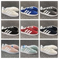Barato Homens Leves Sapatos De Passeio-Adidas Originals 2018 Top Quality Men Women Casual Suede Gazelle Cheap Discount Lightweight Walking Hiking Sneaker Shoes 36-45