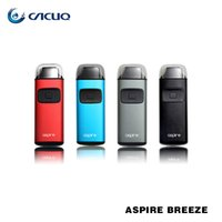 Wholesale Auto Tech - Aspire Breeze Starter Kits e cigs 650mAh Battery 2ml Capacity with U-tech 0.6ohm Coil ecig Auto-fire vape pens Authentic