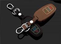audi a3 keys NZ - LLuminous eather car key chain case for AUDI A1 A3 A4 A5 A6 A8 A7 Q3 Q5 Q7 TT S5 S7 S8