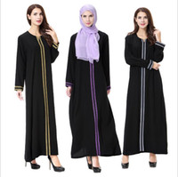 Wholesale Xl Muslim Woman Clothes - Islamic Muslim Dresses For Women Long Embroidery Dresses Abaya Malaysia Turkish Ladies Clothing Women Muslim Dresses Middle East Lady Robe