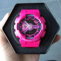 Wholesale Led Watches For Girls - 2018 New Arrival Women Watches For Sport LED Digital Dual Display Analog Top Brand Watches Ladies Dress Timepieces Saat Clock for Girls