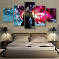 Wholesale Unframed Panels Modern Canvas Paintings Tokyo ghoul Hanging Wall Decoration