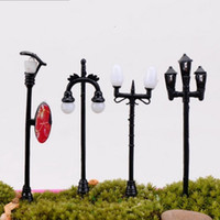 Metal black garden umbrella - Groceries Street Lamp Crafts Mini Fleshy Ornament Road Garden Home Miniature Streetlight Potted Landscape Advertising Light Hot Sale hq H