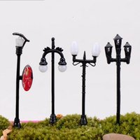 Wholesale Metal Mini Fans - Groceries Street Lamp Crafts Mini Fleshy Ornament Road Garden Home Miniature Streetlight Potted Landscape Advertising Light Hot Sale 1 4hq H