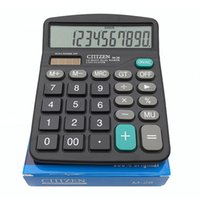 Wholesale Dual Purpose Battery - Portable Office School Commercial Tool Battery or Solar 2in1 Powered 12 Digit Electronic Calculator with Big Button, Retail box packaging