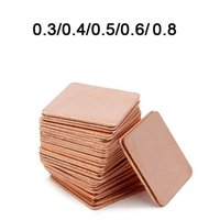 Wholesale copper laptop heatsink online - New mmx15mm mm mm mm mm Heatsink Copper Shim Thermal Pads for Laptop GPU VAG PAD