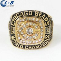 Wholesale Liaobao CH1009 High Quality Fashion Gold Plated Replica Men Super Bowl XX Football Game Championship Ring