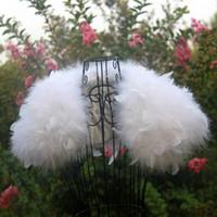 Wholesale Feather Shawls - Ostrich Feather White Wedding Fur Coat Manteau Fourrure Femme Bolero Mariage Feather Bolero Bridal Jacket Winter Coat Women