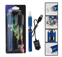 Wholesale Evod Free Shipping - MT3 EVOD blister kits evod mt3 e cigarette kits ego evod 650mah 900mah 1100mah kit free shipping
