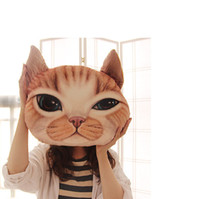 Wholesale Realistic Mouse - Two types of pillows and warm hands Creative cartoon star who meow plush toy cat home pillow pillow realistic 3D washable
