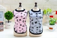 Wholesale Cheap Winter Clothing Free Shipping - New Fashion Pet Dogs Clothes Sleeveless T-Shirts Apparel dog Cute and prettyclothes cheap free shipping 4-2112