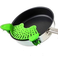 Wholesale Pan Strainer - Kitchen Fold Away Strainer and Universal Colander No-hands No-Fuss Clip-On Strainers. Universal Size Fits Most Pans