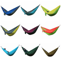 Wholesale Outdoor Hammock cm Parachute Portable Nylon Safe Parachute Travel Hiking Backpacking Camping Hammock Swing Colors OOA1861