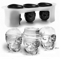 Wholesale Molds For Candy - Silicone Skull Ice Molds - Set of 3 Candy Diamond silicone ice mold form for soap mould silicone