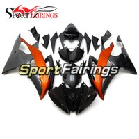 Yamaha R6 Naranja Negro Baratos-Carenados para Yamaha YZF600 R6 08 - 15 Año 2008 2009 2010 2011 2015 Sportbike Kit de carenado de motocicleta ABS Black Orange Cowlings Covers NUEVO