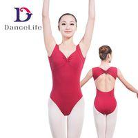 Wholesale Gymnastics Wear - Free shipping women dance leotards cap sleeve ballet leotard sexy dance leotards gymnastics leotards wholesale dance wear A2026