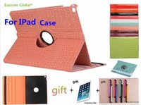 "Wholesale Ipad Cover Leather Crocodile - Free shipping Protective 360 Rotation For iPad Mini123  mini4  234  Air1 Air2  Pro9.7"" Crocodile Pattern Leather Flip Cover"