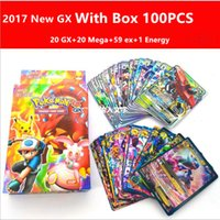 Wholesale Wholesale Kids Collectables - 2017 Hotsale Newest With Box 100Pcs Set GX poke Cards EX MEGA Card Toys Games Playing English Pikachu Collectable Card toys for Kids Gift