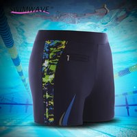 Wholesale Sailing Dry Suits - Wholesale- 2016 Male Summer Sexy Boy Swimsuit Men Diving Sailing Quick Dry Beach Trunk Surfing Bathing Suit Swimwear Board Short Pants#