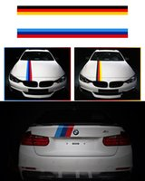 Wholesale Sporty Car Stickers - Car Styling M Color Side Skirt Strip Stickers Sporty Line Roof Tail Stickers For BMW E36 E90 F30 M6 X1 X3 X5 X6