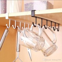 Wholesale Shelve Metal Storage Rack - Storage Hook Rack Kitchen Cupboard Traceless Hanging Shelf Multi Function Hanger Non Nail Row Of Hooks Durable Home Tool 3 3zf F R