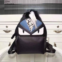 Wholesale Cheap Pink Backpacks - Genuine Leather Unisex Fashion Backpack Cheap Lovely Pretty Style Medium School Bags with Cute Cartoon Pattern