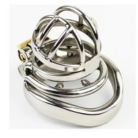 Wholesale Steel Chastity Device For Sale - Hot Sale male chastity device new -steel chastity belt for men new chastity devices cock cage with removable spike ring