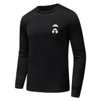 ingrosso cuoio montato-marchio designer monster maglione uomo in pelle curs maglieria inverno maglione caldo pullover cardigan slim fit maglione di cachemire uomini D30