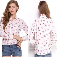 Wholesale Women Bluse - Long Sleeve Slit Open Women Blouse Chiffon Hollow Sexy Casual Shirt Plus Size Women Tops Blusas bluse Polka Dots Shirt Top