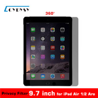 All'ingrosso 9,7 pollici 360 gradi Tablet PC Privacy Protector Filter schermo per iPad Air 1 / iPad Air 2 / Aro 165mmx237mm