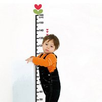 Wholesale Height Chart Removable Wall Sticker - Nursery Wall Stickers Acrylic Wall Stickers Online Crystal Wall Decor Shapes Mirror Design Glass Removable Height Chart Walls Clings