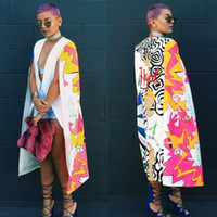 Wholesale Dotted Cloak - Wholesale- Top quality high design 2016 cloak sleeve maxi long dress sexy print dresses novelty bandage dress W1620