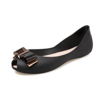 Wholesale Metal Heel Wedges - 2017 new fish mouth metal bowknot fashionable wedge lighter flat non-slip wear-resisting breathable comfort women sandals