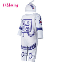 Unisex space pajamas - 0 M New Baby Boy Girls Cartoon Astronauts Clothing Hat jumpsuit Cotton Long Sleeve Rompers Infant Kids Newborn Space Suit Pajamas Clothes