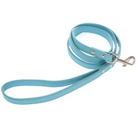Cheap PU Pet Plain Leash Pequeno Grande Dog PU Lead Corda Moda Dog Training Leash Rosa Preto Azul Branco Red Color Mix Order 20PCS / LOT