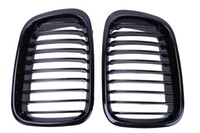 Wholesale Bmw E46 Grille - 2x Gloss Black Kidney Grill Front Grille For BMW E46 Sedan 320i 325i 325xi 330i 330xi 323i 328i 318i 1998-2001 Car Sytling #P190