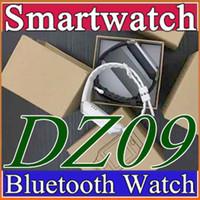 сотовый телефон часы android оптовых-10X Smartwatch 2016 последний DZ09 GT08 Bluetooth Smart Watch с SIM-карты для Samsung IOS Android сотовый телефон 1.56 дюймов Бесплатная доставка DHL B-BS