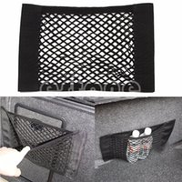 Wholesale Trunk Storage Net - Wholesale- 1PC Car Back Rear Trunk Seat Elastic String Net Mesh Storage Bag Pocket Cage Bag