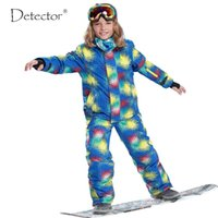 Wholesale Skiing Clothes For Children - Wholesale- Free Shipping Winter Outdoor Children Clothing Set Windproof Ski Jackets + Pants Kids Snow Sets Warm Skiing Suit For Boys Girls