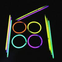 Wholesale Fun Outdoor Lighting - Light Sticks Children Toy Glow Fluorescence Stick with Connectors Neon Party Luminous Night Kid Christmas Decoration Fun 100 Piece Lot