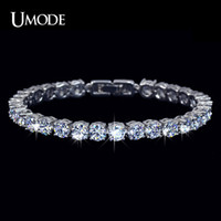 Wholesale UMODE Charm AAA Round Cubic Zirconia Tennis Bracelet for Woman Pulseira Classic Wedding Jewelry Lady Bracelet UB0021