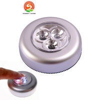 Wholesale led trunk - Creative 3LEDs Touch light stickup LED wall light bulbs for car trunk emergency lamp camping kitchen book lights